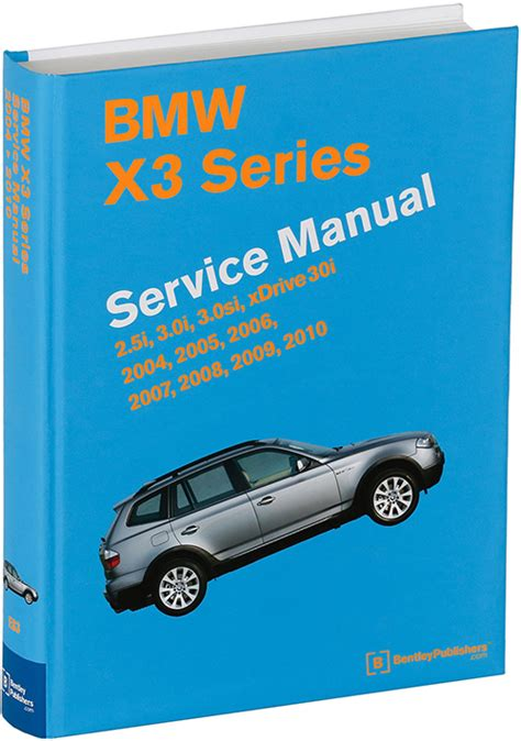 chilton car manuals free download 2009 bmw x5 parking system front cover bmw x3 e83 2004 2010 repair information bentley publishers repair manuals