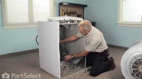 dryer repair replacing  rear drum bearing kit part