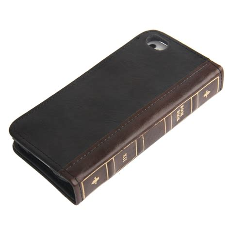 housse en cuir design livre iphone 5 5s iphony