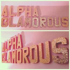 letters glitter letters and wall decor on pinterest With wooden greek letters hobby lobby