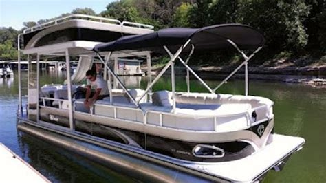 Pontoon Boats Double Decker by Upper Deck For Pontoon Boat Boats For Sale