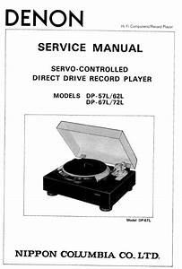 Denon Dp 57l 62l 67l 72l Turntable System Service Manual