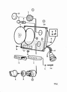 Volvo Penta Exploded View    Schematic Instrument Panel 12v