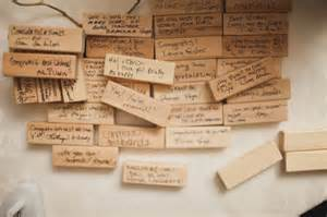 be our guest jenga tile guest book mendocino weddings events