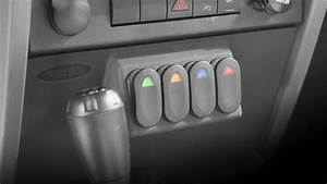 Rugged Ridge 17235 55 Lower Console Switch Panel For 07