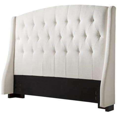 cream tufted wingback headboard full queen target