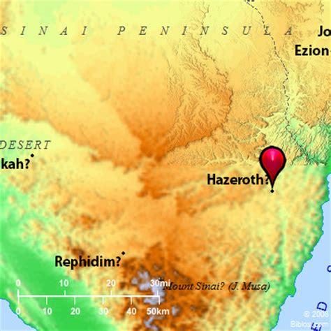 bible map taberah hazeroth