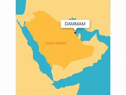 Arabia Map Saudi Middle Ages East Dammam