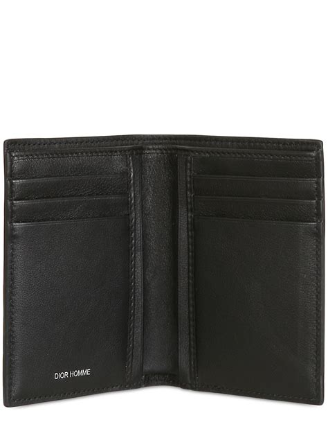 dior homme pleated soft leather compact wallet  black  men lyst