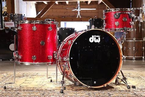 dw collectors contemporary classic pc drum set red