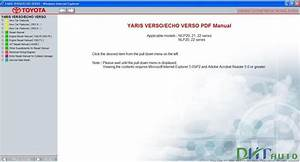 Toyota Yaris Verso    Echo Verso Service  U0026 Repair Manual
