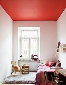 peindre un plafond avec une peinture couleur deco With peindre un plafond en couleur