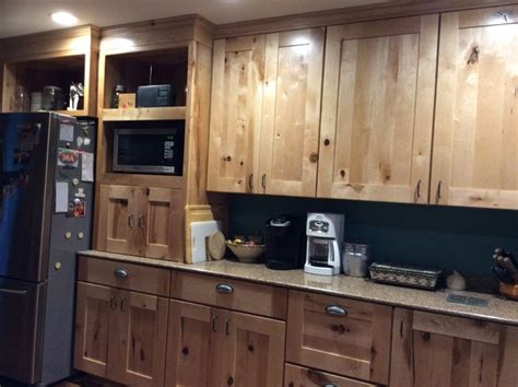 wood kitchen cabinets schuler holbrook rustic maple 3459