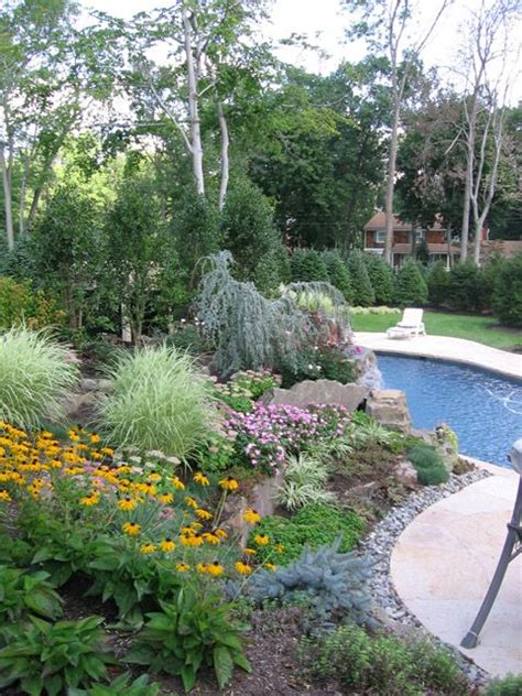 pool landscape design  jersey great gardens ideas