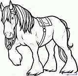 Horse Coloring Pages Drawing Draw Clydesdale Angus Drawings Brave Horses Printable Step Dragoart Colouring Print Books Printablecolouringpages Creature Camp Embroidery sketch template