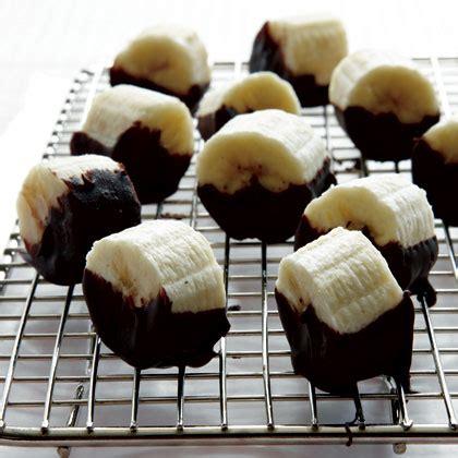 chocolate dipped banana bites recipe myrecipes