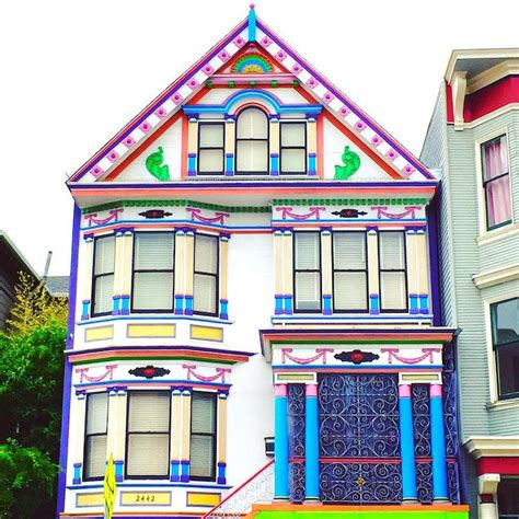 Colourful House by Vibrant Photos Of San Francisco S Colored Houses