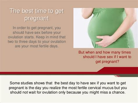 When to have sex to get pregnant hot photos