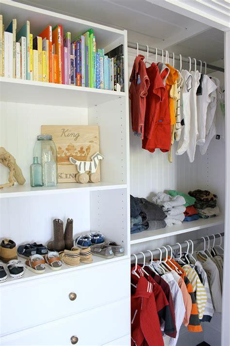 Child Closet Organization Ideas by Closet Organization For A Boy S Room
