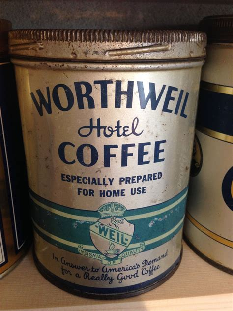 Enjoy a specialty coffee drink to keep you energized all day. Worthweil Hotel Coffee | Coffee tin, Coffee packaging, Vintage coffee