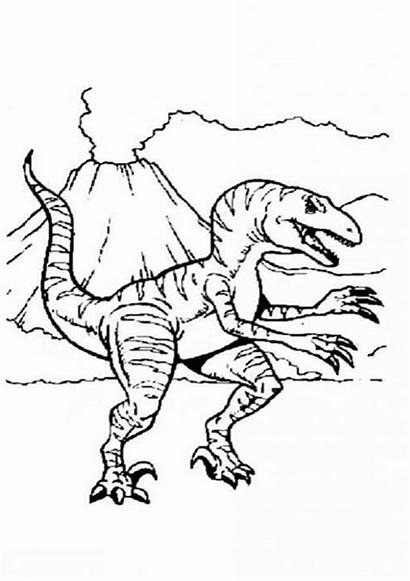 Volcano Coloring Pages Allosaurus Active Volcanoe Library