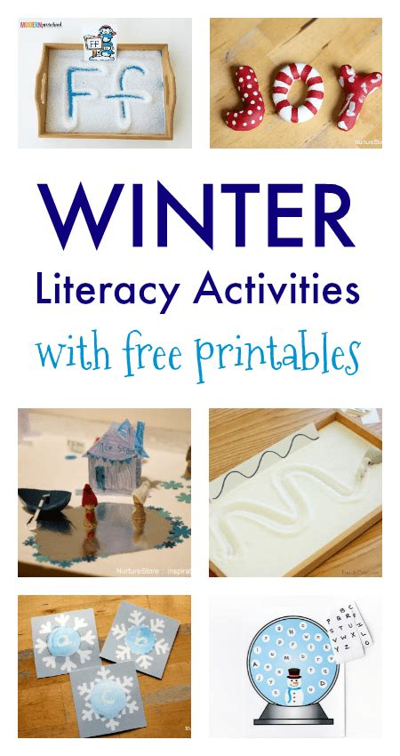 12 winter literacy activities with free printables nurturestore