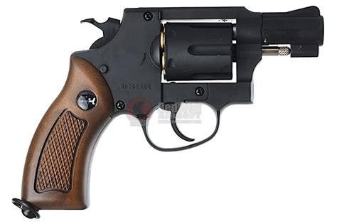gun heaven wingun 733 2inch 6mm co2 revolver brown grip