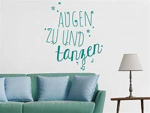 Augen Zu Und Tanzen : wandtattoo augen zu und tanzen bestellen sie bei ~ Watch28wear.com Haus und Dekorationen
