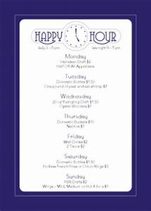 cocktail happy hour table tent happy hour menu With happy hour menu template