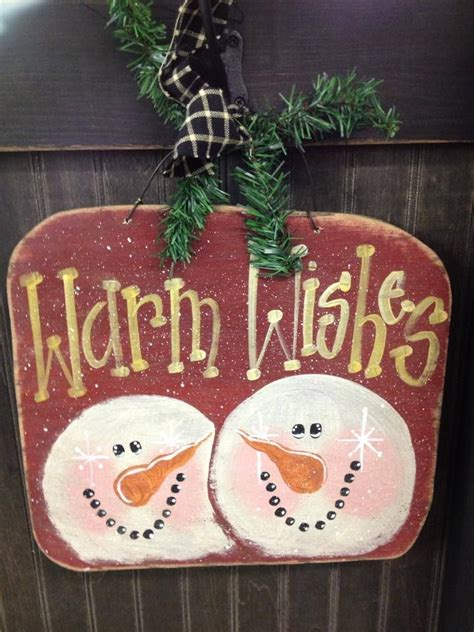 cute snowman wood craft hand painted christmas crafts