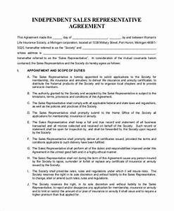 independent sales rep contract template - 9 independent contractor agreement form samples free