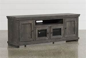 Sinclair Grey 74 Inch Tv Stand - Living Spaces
