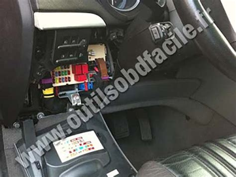 obd connector location  alfa romeo brera