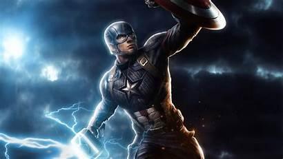 Captain Endgame America Avengers 4k Mjolnir Wallpapers
