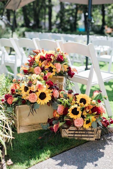 pretty  bright sunflower wedding ideas