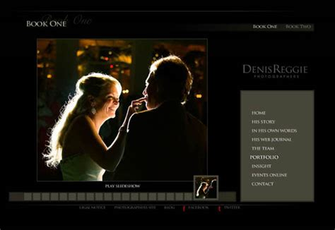 showcase  elegant photographer portfolio websites