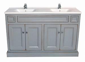 charmant meuble salle de bain campagne avec meuble double With meuble salle de bain campagne
