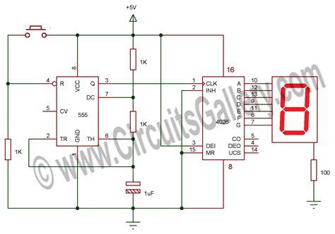 simple electronic random number generator circuit using