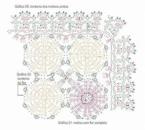 Yellow Flower Table Runner Free Crochet Diagram  U22c6 Crochet