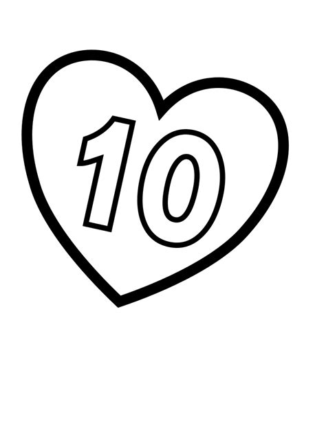 filevalentines day hearts number   coloring pages