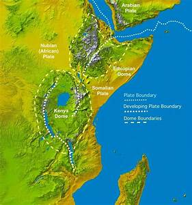 East Africa Rift Plate Boundary Map