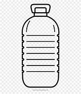 Outline Bottle Water Clipart Plastic Bottles Colouring sketch template