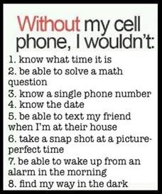 cell phone without without my cell phone