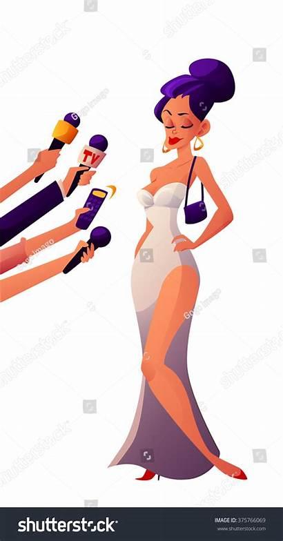 Celebrity Clipart Journalist Cartoon Celebrities Vector Interviews