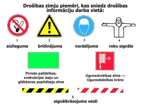 PPT - Darba vietas organizēšanai lietojamie apzīmējumi ...