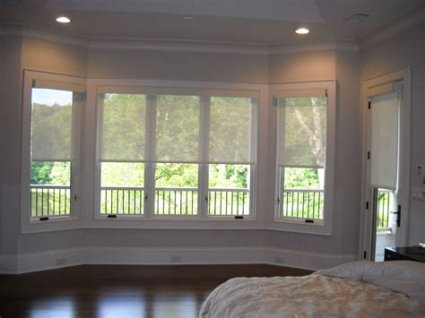 motorized solar shades halfway  bay window