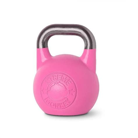 kettlebell pink kettlebells competition monkey xtreme 8kg contact kettle fitness bells unified