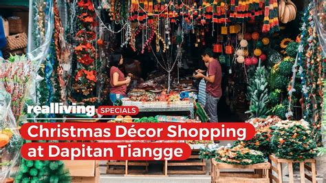 christmas decor shopping  dapitan tiangge youtube