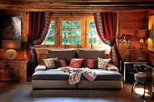 Rideaux Style Chalet : la d coration chalet entre dans votre maison d 39 hiver ~ Teatrodelosmanantiales.com Idées de Décoration