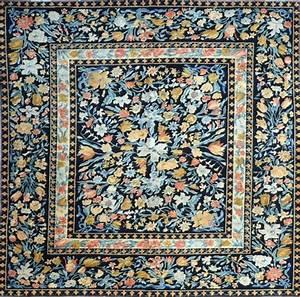 les 80 meilleures images a propos de tapis et tapisseries With tapis mille fleurs